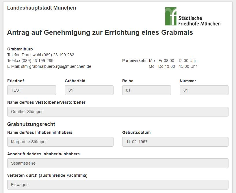 datenempfang Formularmanagement Programm